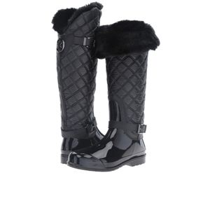 Michael Kors 10 Quilted Navy Fulton Boots